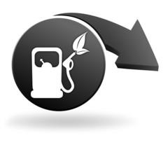 carburant végétal sur symbole noir
