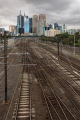 railway tracks in Melbourne, Australia