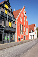 Historische Häuser in Lemgo, Deutschland