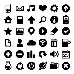 Universal Simple Web Icons Set