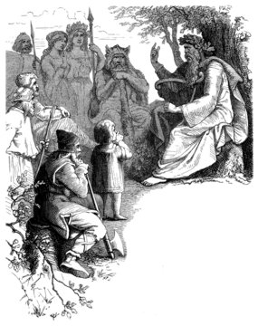 Bard or Skalde (end Antiquity & early Middle-Ages)