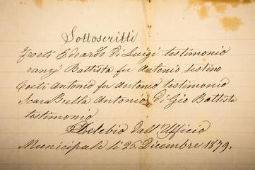 Old manuscript