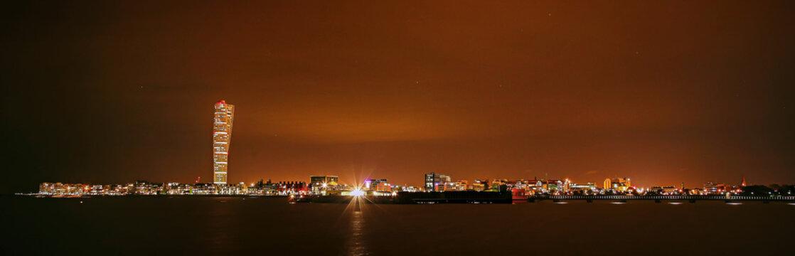 Malmö Night Skyline