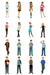 Different teenagers in different styles and poses