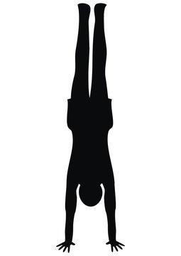 yoga - handstand