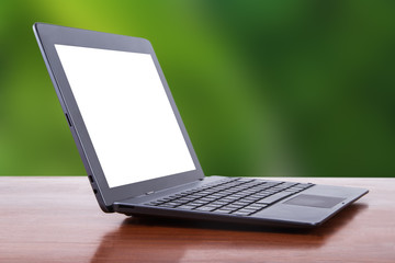 Tablet Laptop with Natural Background