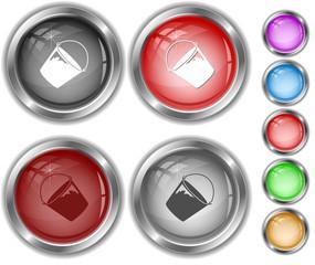 Bucket. Internet buttons.