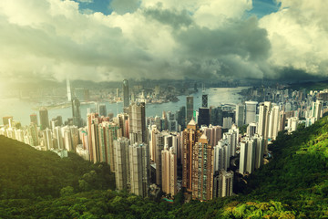 Fototapete - Hong Kong from Victoria Peak