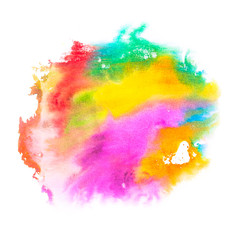 Abstract colored blobs on white background