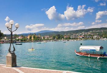 Quay. Resort Velden am Worthersee. Austria
