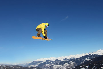 Snowboarding in the Alps