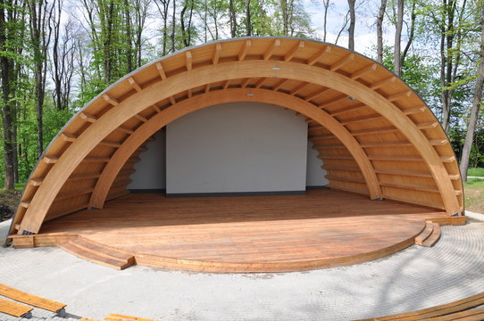 Amphitheater in the park summer stage