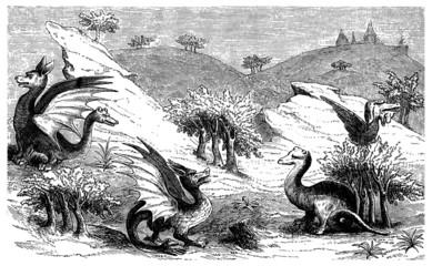 "Monsters from the ""Livre des Merveilles"" - 14th century"