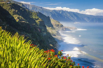 northern coast near Boaventura, Madeira island, Portugal
