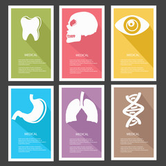 Medical banners,vector