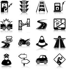 Road traffic icons