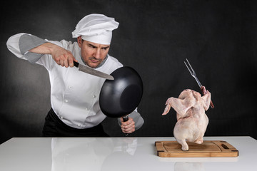Chef fighting
