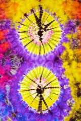 Wall Mural - close up shot of tie dye fabric texture background