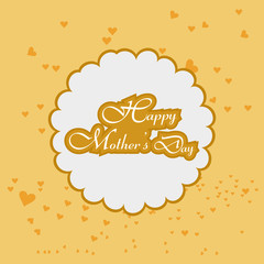 Happy mother's day colorful stylish text vector background