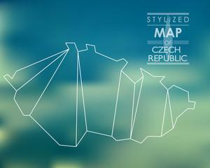 stylized map of Czech republic