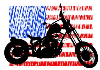 Wall Mural - American bike