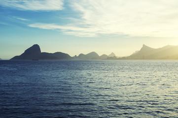 Sugarloaf Mountain Guanabara Bay Rio from Niteroi
