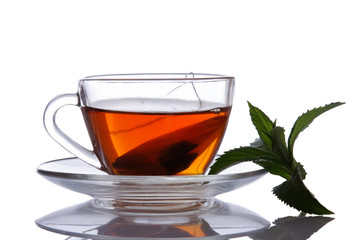 Cup of tea and mint.