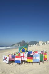 International Football Country Flags Rio de Janeiro Brazil