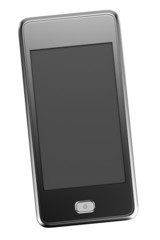 realistic 3d render of touchphone