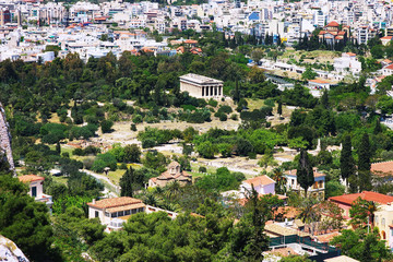 View to the Teseyon and the Churches in Athens