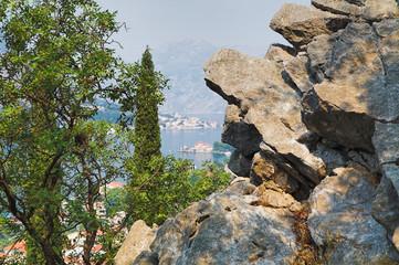 Rock above the Kotor bay