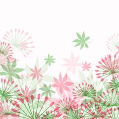 Vector Illustration of a Decorative Floral Background