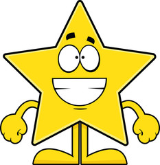 Grinning Cartoon Star