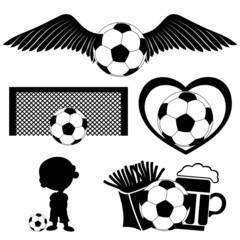 Vector set. Football signs.