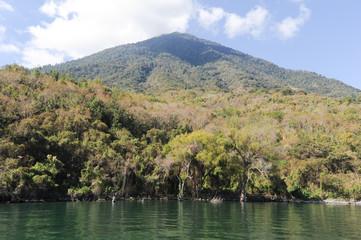 Vulcano of San Pedro on lake Atitlan