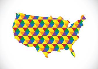 Map of USA in idea design