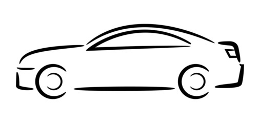 Car outline. Vector illustration.