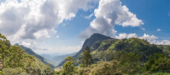 Panorama of Ella Gap in Sri Lanka