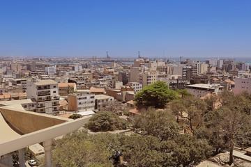 vue générale de Dakar (Sénégal)