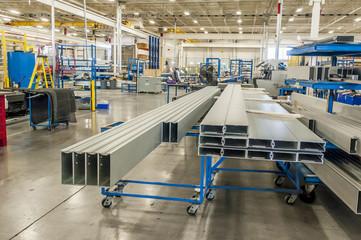 Stock file of Aluminum extrusions