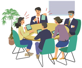 Meeting in the company