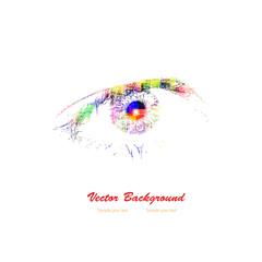Colorful woman eye