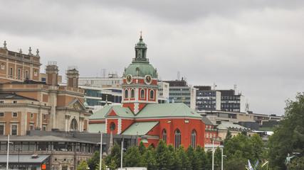 Stockholm, Altstadt, Jakobskirche, Kirche, Sommer, Schweden