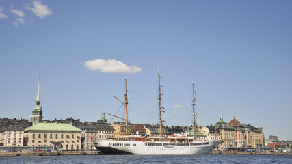 Stockholm, Altstadt, Hafen, Sommerferien, Schweden