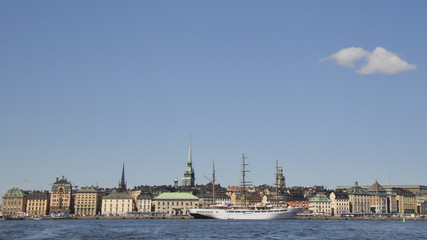Stockholm, Altstadt, Hauptstadt, Sommer, Schweden