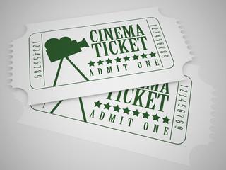 white cinema tickets