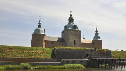 Kalmar, Altstadt, Schloss Kalmar, Sommer, Schweden