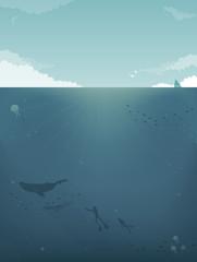 Sea background Illustration