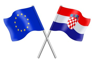 Flags : Europe and Croatia