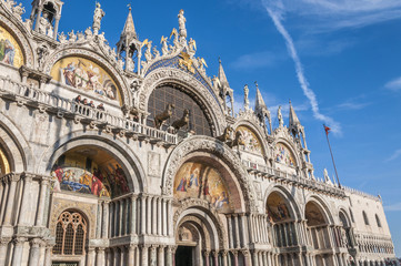 Venice, Italy. Saint Mark's Basilica and Doge's Palace Wall mural